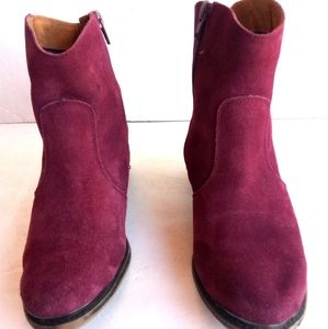 Ming  originals light burgandy suede  ankle boots